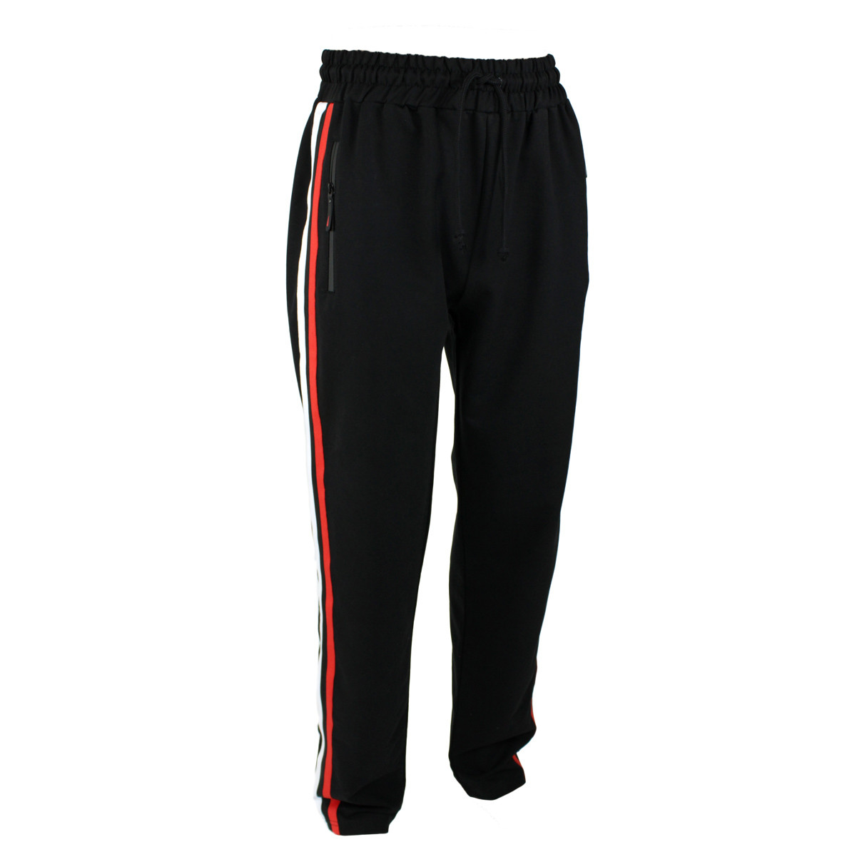 Штани чоловічі спортивні чорні з смужками