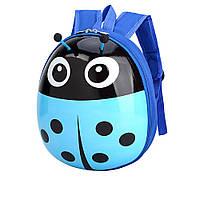 Детский рюкзак для мальчиков дошкольников Божья коровка Голубой