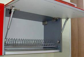 Амортизатор газовый для дверей из ДСП и алюминия, Открывание вверх. 60N, фото 2