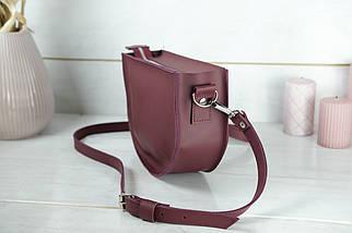Шкіряна сумочка Фуксія, шкіра Grand, колір Бордо, фото 3