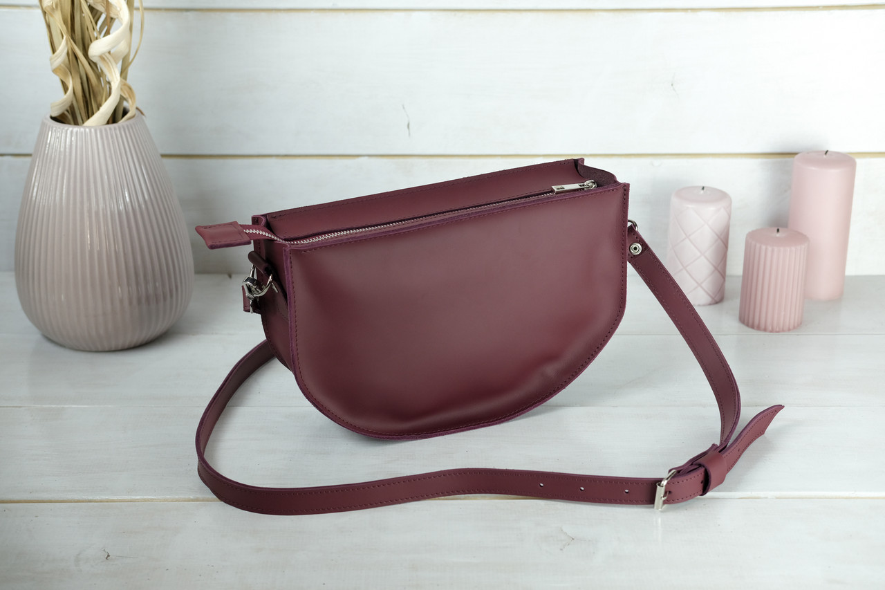 Шкіряна сумочка Фуксія, шкіра Grand, колір Бордо
