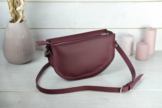 Шкіряна сумочка Фуксія, шкіра Grand, колір Бордо, фото 2