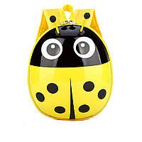 Детский рюкзак для мальчиков и девочек дошкольников Божья коровка Желтый