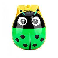 Детский рюкзак для мальчиков и девочек дошкольников Божья коровка Зеленый