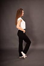 Спортивні штани жіночі прямі чорна двунітка