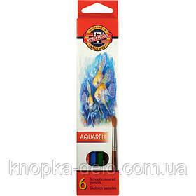 """Карандаши цветные акварельные 3715 MONDELUZ """"Рыбки"""", 6 цветов, картонная упаковка"""