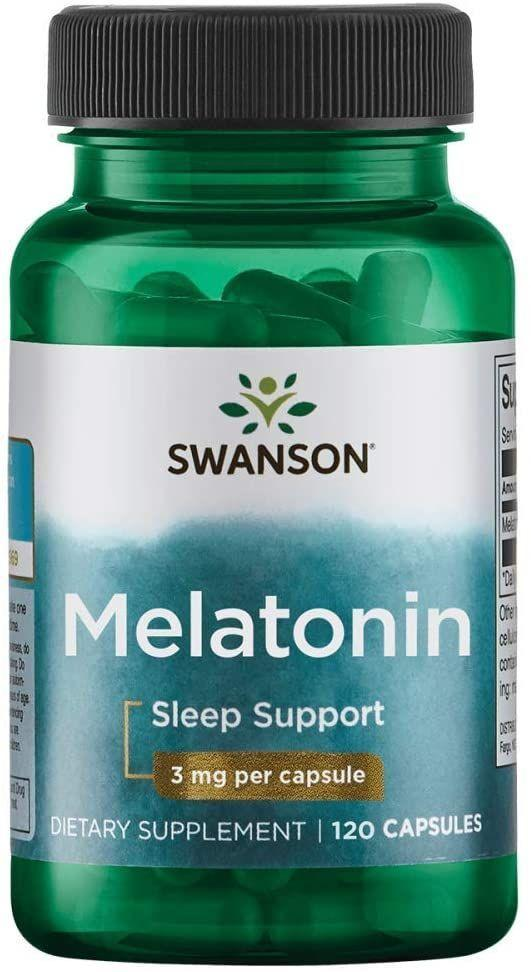 Биологически Активные Добавки Свансон США Мелатонин для улучшения сна 3 мг Melatonin Swanson 120 капсул USA