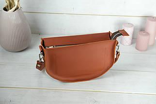 Шкіряна сумочка Фуксія, шкіра Grand, колір Коньяк, фото 2