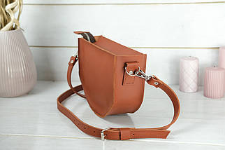 Сумка женская. Кожаная сумочка Фуксия, кожа Grand, цвет Коньяк, фото 3