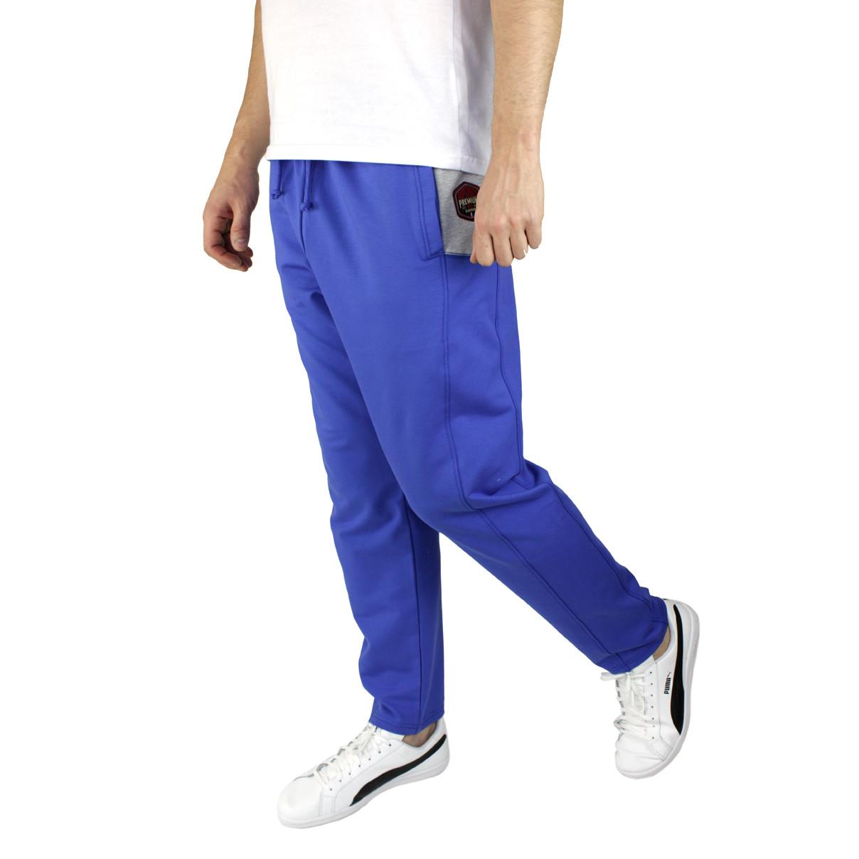 Штаны мужские спортивные синие электрик M-3XL