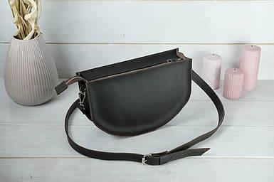 Шкіряна сумочка Фуксія, шкіра Grand, колір Шоколад