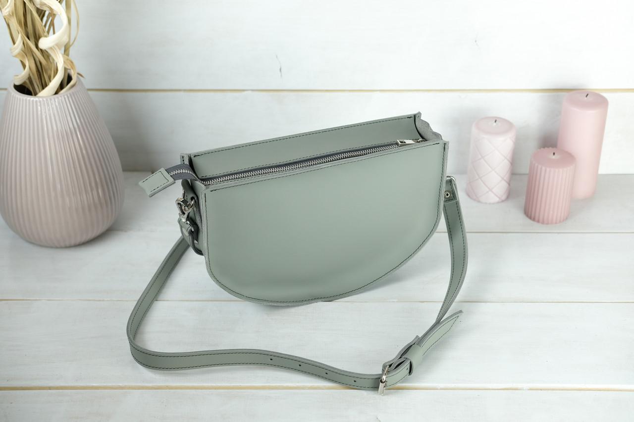 Шкіряна сумочка Фуксія, шкіра Grand, колір Сірий