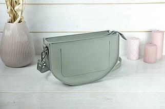 Сумка женская. Кожаная сумочка Фуксия, кожа Grand, цвет Серый, фото 2