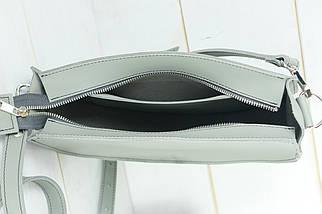Сумка женская. Кожаная сумочка Фуксия, кожа Grand, цвет Серый, фото 3
