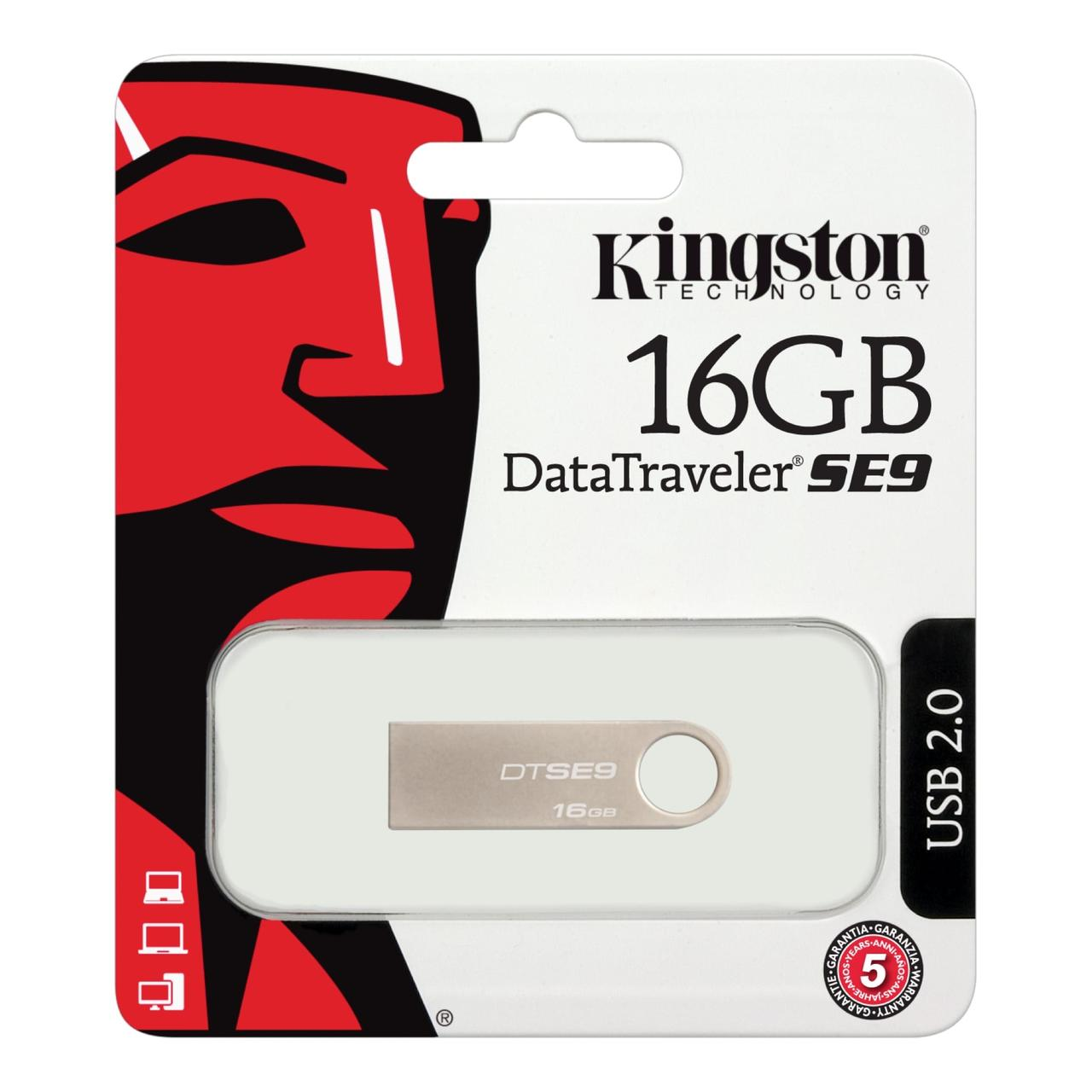 Флеш пам'ять USB 16Gb Kingston SE9 (Метал)