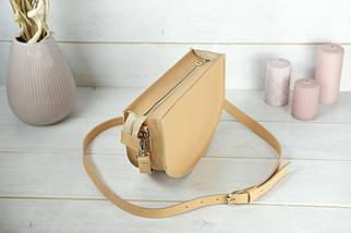 Сумка женская. Кожаная сумочка Фуксия, кожа Grand, цвет Бежевый, фото 2
