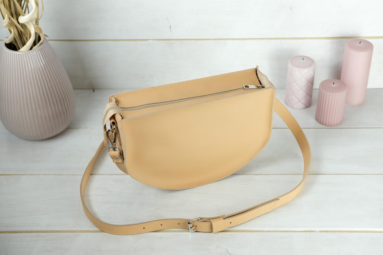 Шкіряна сумочка Фуксія, шкіра Grand, колір Бежевий