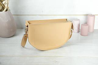 Шкіряна сумочка Фуксія, шкіра Grand, колір Бежевий, фото 2