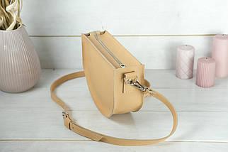 Сумка женская. Кожаная сумочка Фуксия, кожа Grand, цвет Бежевый, фото 3