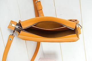 Сумка женская. Кожаная сумочка Фуксия, кожа Grand, цвет Янтарь, фото 3
