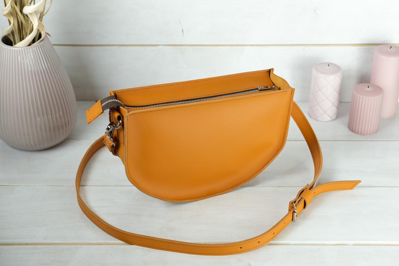 Сумка женская. Кожаная сумочка Фуксия, кожа Grand, цвет Янтарь