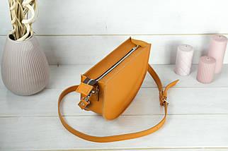Сумка женская. Кожаная сумочка Фуксия, кожа Grand, цвет Янтарь, фото 2