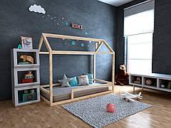 ✅Дитяче Дерев'яне ліжко будиночок Анетти плюс ТМ MegaOpt