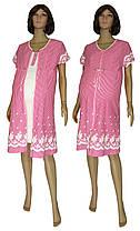 Комплект для беременных и кормящих, ночная рубашка и халат 18029 Fashion Patterns коттон Молочно-малиновый