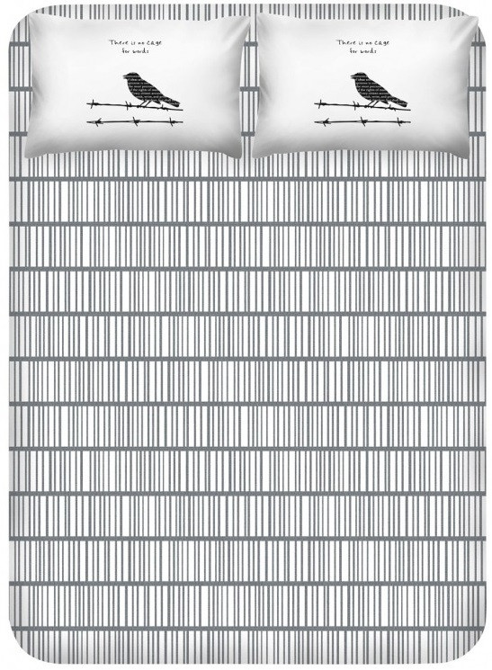 Простирадло з наволочками Enlora Home - Vektor gri сірий 240*260 євро