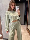 Модный костюм женский спортивный с короткой кофтой, фото 2