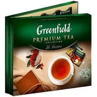 Чай Greenfield Асорті з 96 окремих пакетиків (24х виду чаю). Подарунковий преміум варіант.