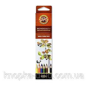 Карандаши цветные акварельные художественные MONDELUZ  3715006001KS , 6 цветов