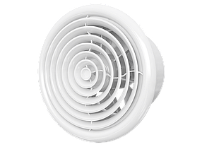 Вентилятор Эра осевой с москитной сеткой и обратным клапаном 100 мм (60-617)