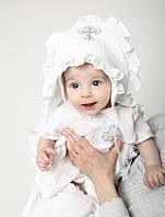 Набір для хрещення дітей Муслін білий, фото 1