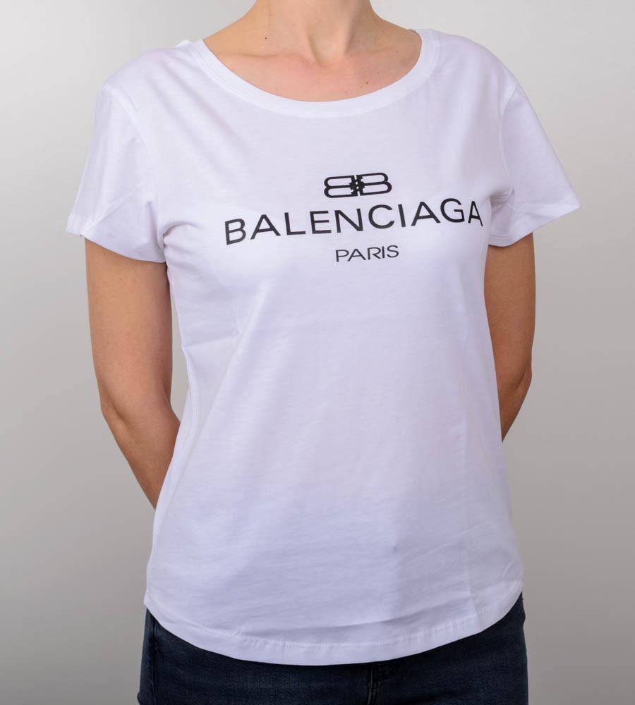 Футболка жіноча вільного крою Balenciaga (2018жс), Білий