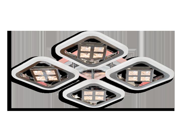 Led Люстра AS8190/4CF LED 3color dimmer (Коричневый) 95W