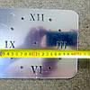"""Часы зеркальные серебристые """"прямоугольники зеркальные"""" , часы наклейки прямоугольники (до 70см), фото 3"""