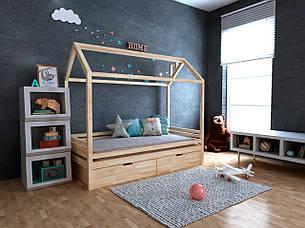 ✅Детская Деревянная кровать домик Китти с ящиками ТМ MegaOpt, фото 2