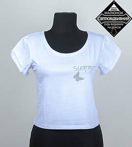 "Топ женский ""Summer"", размер: M (Т004), Белый"