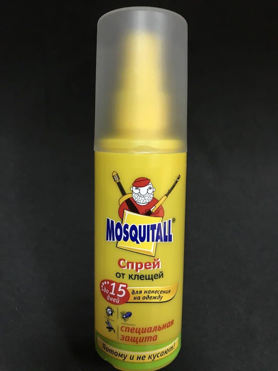 Спрей от клещей на одежду Москитал Mosquitall