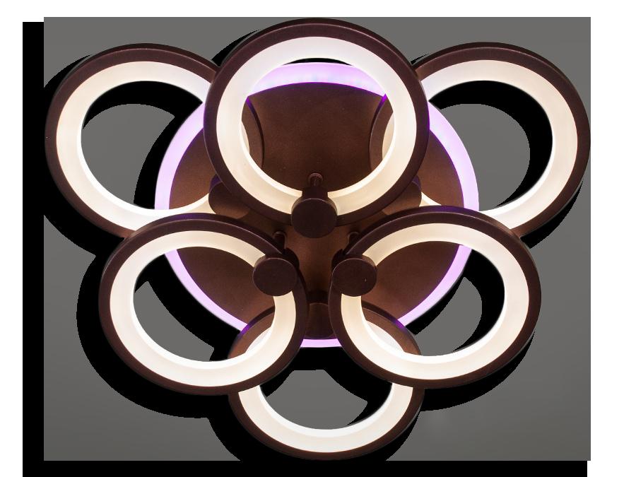 Світлодіодна люстра 8022/3+3GR LED 3color dimmer (Сірий) 115W