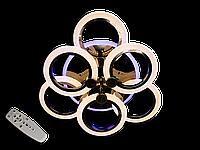 Світлодіодна люстра A8022/3+3BHR LED 3color dimmer (Чорний хром) 85W, фото 1