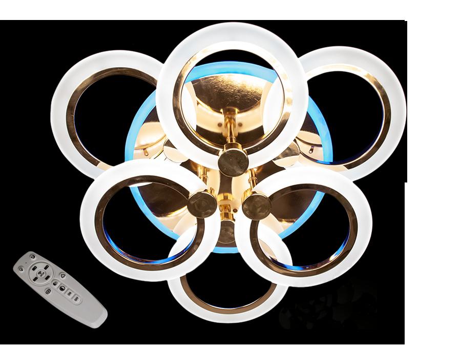 Led Люстра  A8022/3+3HR LED 3color dimmer (Хром) 85W