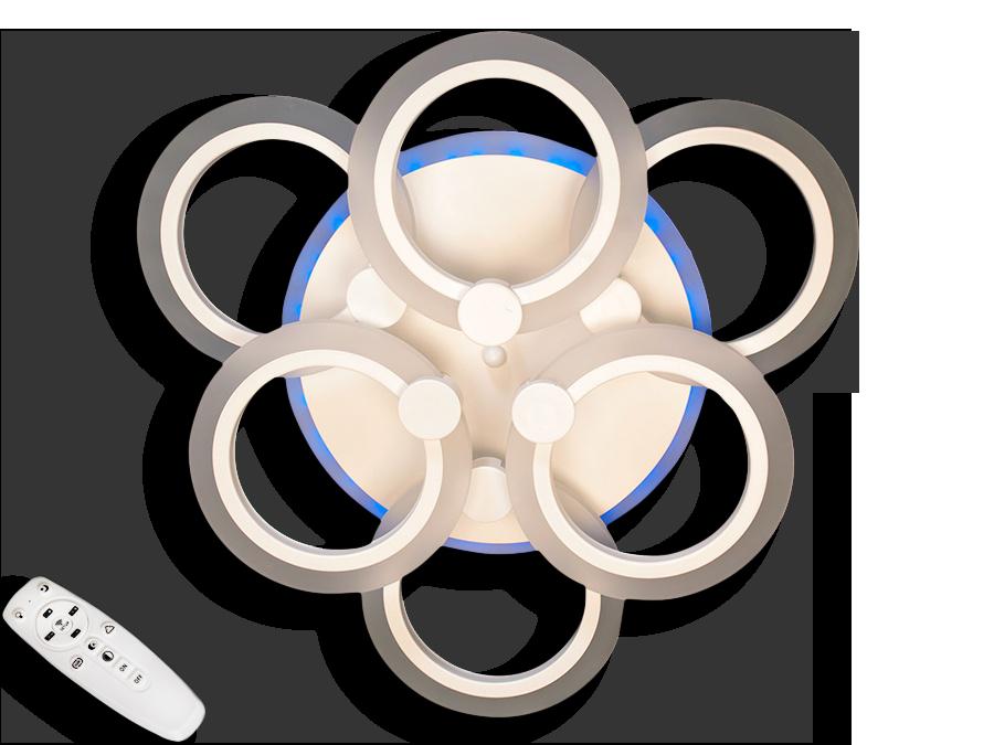 Світлодіодна люстра A8022/3+3CF LED 3color dimmer (Коричневий) 85W