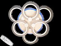 Світлодіодна люстра A8022/3+3CF LED 3color dimmer (Коричневий) 85W, фото 1