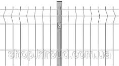 Заборная секция 1500ммх2000мм Оцинкованная проволока 4/4мм, фото 2