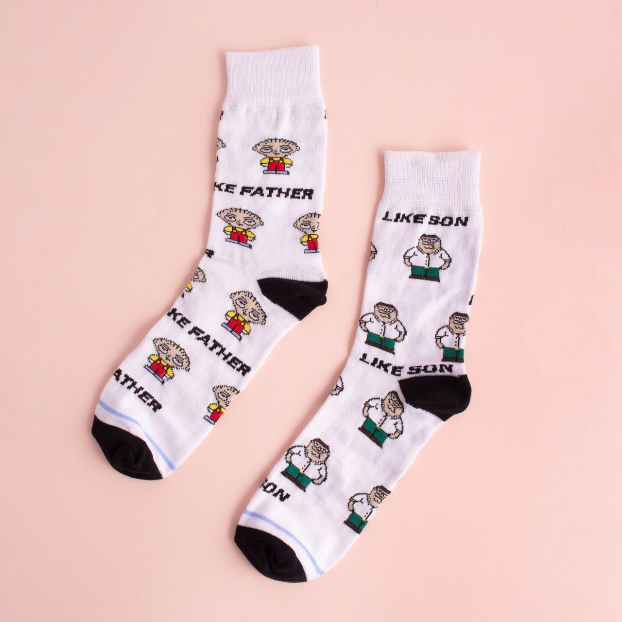 """Шкарпетки з принтом  """"Гріфін батько і син"""""""