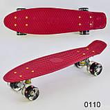Скейт Пенні борд з світяться колесами, фото 4