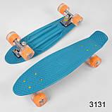 Скейт Пенні борд з світяться колесами, фото 3
