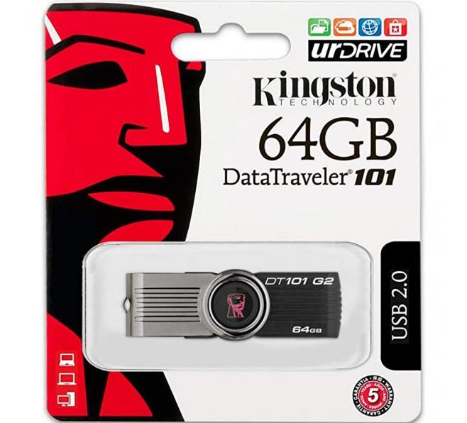 Флеш-накопичувач USB 64Gb Kingston DT101 Чорний